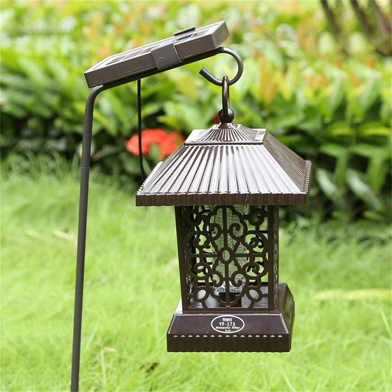 Bloatboy Solar Mückenvernichter, Schmiedeeisen Rasen Licht UV Insektenfalle Beleuchtung Lampe Garten Mückenvernichter Gartenlicht Wasserdichte Auenleuchte (A)