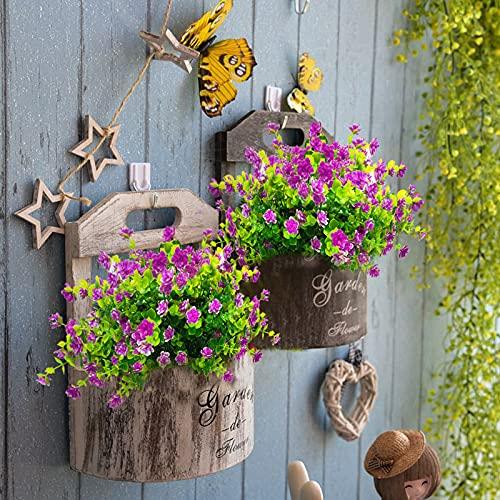 Magriaid Flores artificiales de plástico, antirayos UV, artificiales, para jardín, fiestas, bodas,...