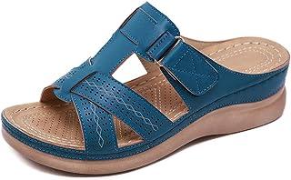Apostasi Women Premium Orthopedic Open Toe Sandals, Vintage Anti-Slip Breathable Comfort Ankle Buckle Portable Walk Ladies...
