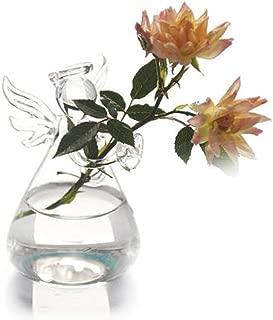 Wild-lOVE New Cute Glass Angel Shape Flower Plant Hanging Vase Home Office Wedding Decor 1pcs Transparent Vases,A