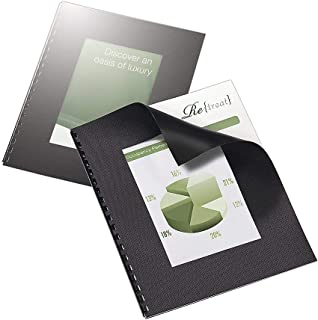 Office Depot Designer Textured Binding Covers, 8 1/2in. x 11in, Black, Pack of 20, 25873