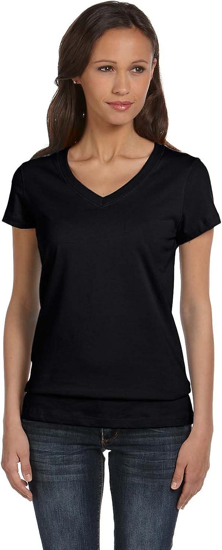 Bella 6005 Canvas Ladies' Short-Sleeve V-Neck Jersey Tee
