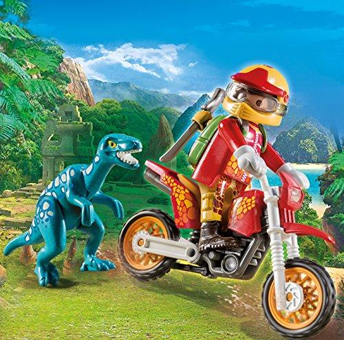 Moto y dinosaurio Playmobil - Dinos (9431)