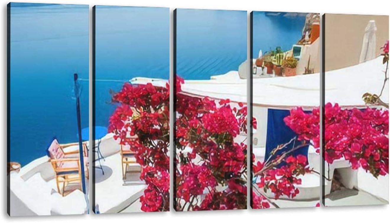 PLWDFPSEJGSLR 5 Panels Art Wall Decor Relax Area an Terrace OFFer 25% OFF with
