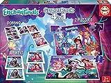 Educa - Superpack Enchantimals Pack de Domino, Identic y 2 Puzzles, Juego de Mesa, Multicolor (17935)