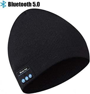 Bluetooth Beanie, Bluetooth Hat, Gifts for Men Wireless Headphones Beanie with Built-in Microphone, Fit for Outdoor Sports, Skiing,Running, Skating, Walking, Men's Christmas Birthday Gifts