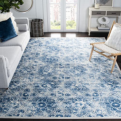 Safavieh Brentwood Collection BNT862D Floral Distressed Non-Shedding Living Room Bedroom Dining Home Office Area Rug, 5'3