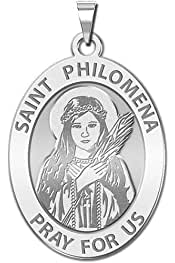 or Sterling Silver PicturesOnGold.com Saint Brogan Round Religious Medal Oval 14K Yellow or White Gold