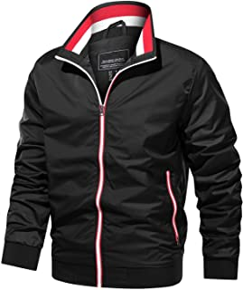 Men's Jackets Lightweight Windbreaker Casual Athletic Varsity Coats Full Zipper Hiking Thin Bomber Spring Fall