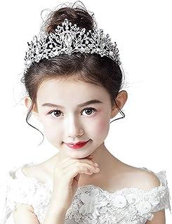 RKY Ragazze Corona, Bambini Fascia Corona Corona Copricapo Principessa Girl Corona Ragazza Wedding Card tornante Visualizz...