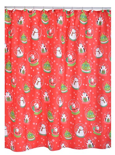 Ridder 478150 Christmas Shower Curtain with 12 Hooks...