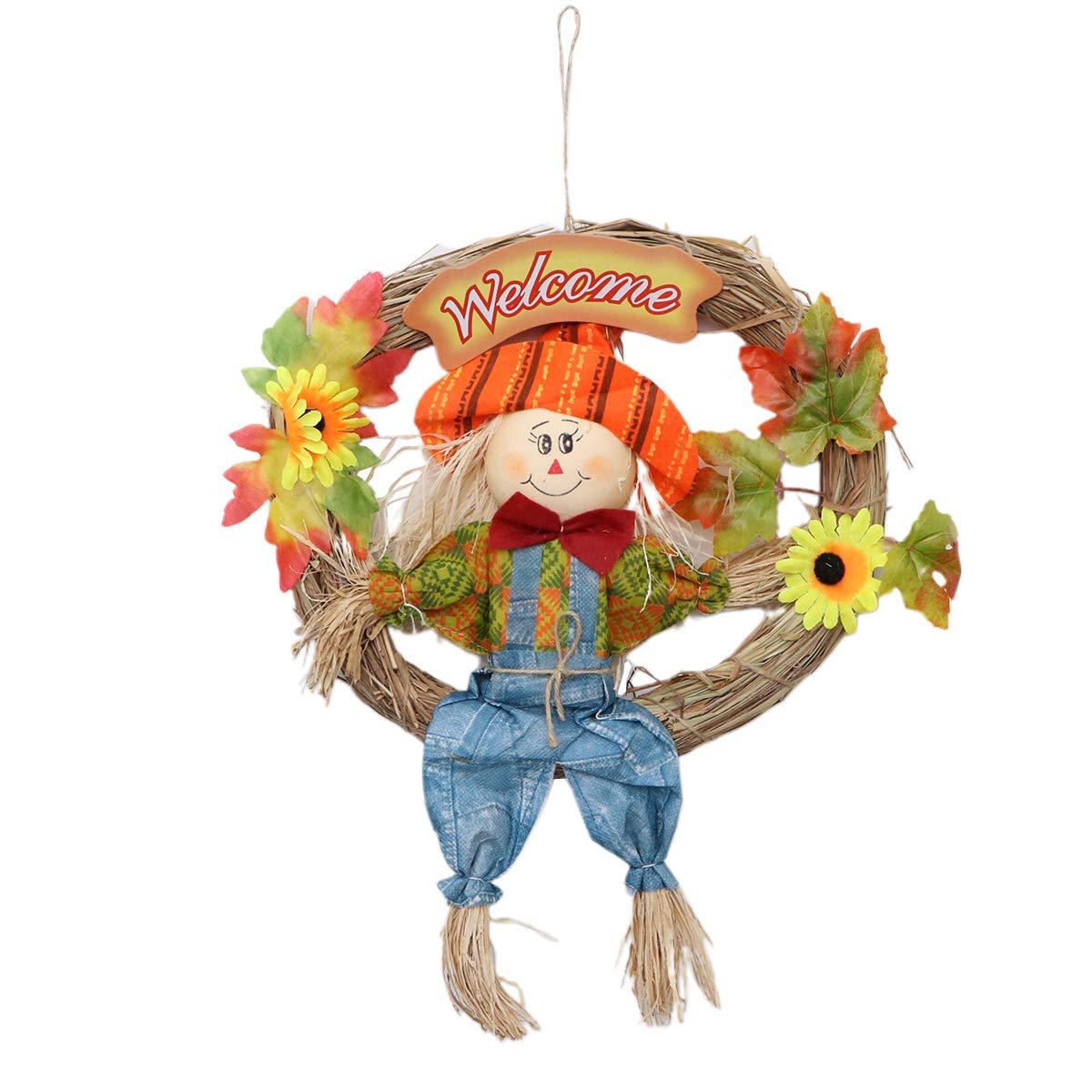 Garneck Espantapájaros para Colgar, Guirnalda de espantapájaros, decoración de Halloween, Acción de Gracias, Cosecha de otoño, decoración para Fiestas, Escuela, hogar, Bar, jardín (Grande/Macho): Amazon.es: Juguetes y juegos