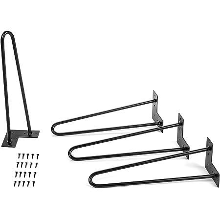 Table legs 4er-Set Two Bars Black