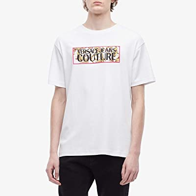 Versace Jeans Couture Logo Baroque Box Logo T-Shirt (White) Men