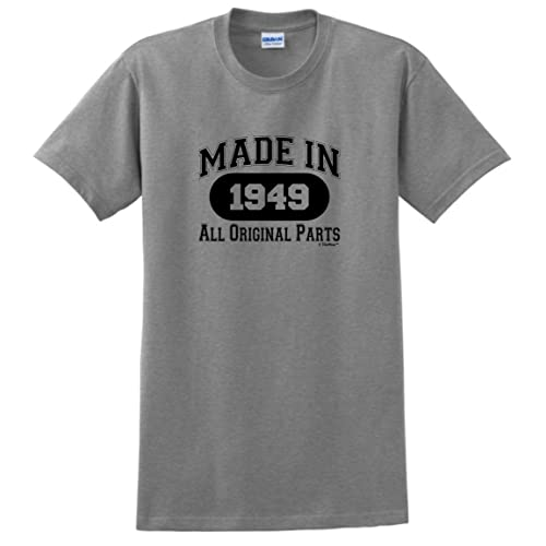 70th Birthday Gifts Made 1949 All Original Parts T Shirt