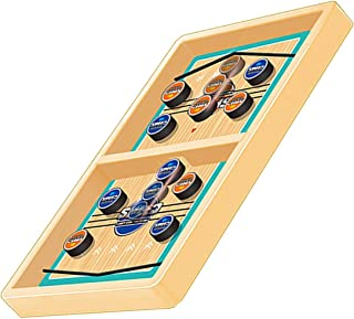 NDR Fast Sling Puck Game - Table Battle 2 in 1 Slingshot Table Ice Hockey Winner Board Game Parent-Child Interaction Toy