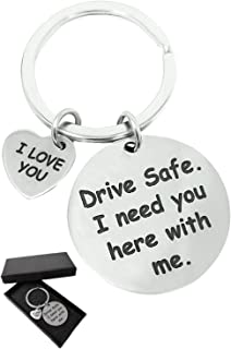 Drive Safe - I Love You - Cute Keychain Gift by Jim Guyver - For Girlfriend Boyfriend Valentine Dad Husband Sister & Brother - Let Your Loved Ones Know You Care & Bring A Smile To Them