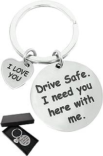 Drive Safe - I Love You - Cute Keychain Gift For Girlfriend Boyfriend Valentine Dad - Stocking Stuffer