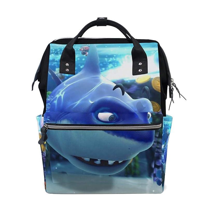 Cute Cartoon Shark Clownfishes School Backpack Large Capacity Mummy Bags Laptop Handbag Casual Travel Rucksack Satchel For Women Men Adult Teen Children