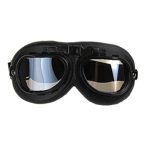 5e99436ff7 TININNA Gafas Lente Lens Tipo Aviador contra Viento UV para Moto  Harley(Negro)