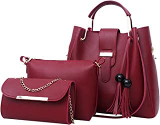 Shoulder Bag Women 3Pcs Tassel Shoulder Bag Crossbody Bag Handbag Shoulder Bag #5L