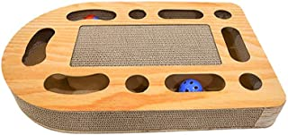 LiRongPing Cat Scratcher,cat Turntable Ball,Cardboard Cat scratchers Recyclable Triangle Scratching Pad Scratch-Resistant Bed Sofa for Cat