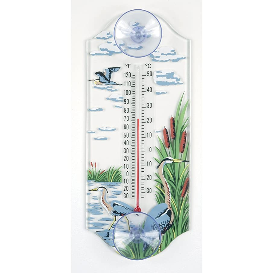Aspects 268 Classic Style Great Blue Heron Window Thermometer