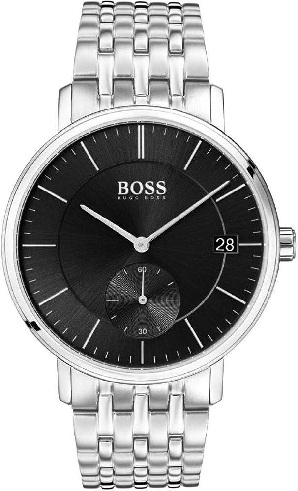 Hugo boss orologio analogico uomo con cinturino in acciaio inox 1513641