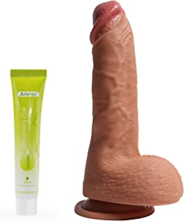 Hyper Realistic Dildo, Anfei Slightly Bendable 9 Inch...