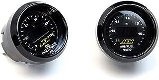 AEM Universal 2 Gauge Set Kit 52mm UEGO WideBand Air / Fuel Ratio + Oil Pressure