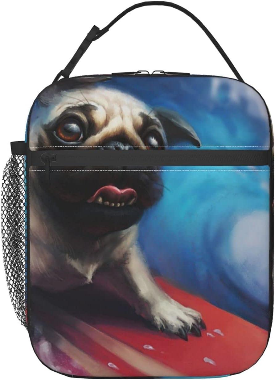 Insulated Lunch Bag for Women Lu Popular overseas pug animals Men,dog Very popular