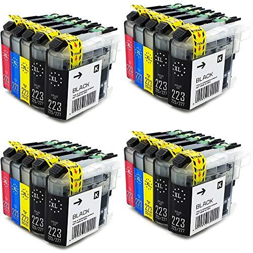 20x Office Channel24 kompatibel Drucker patronen Ersatz für Brother LC223xl LC225xl LC221 LC227 XL Patronen für Brother MFC J5320DW DCP J562DW MFC J480DW J680DW J5620DW J880DW J5720DW J5625DW J4625DW J4620DW J4120DW J4420DW