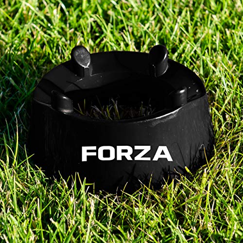 FORZA Football Placekicker Kicking Tee (Plastic) (Black) – Placekicker's Aim & Accuracy Training Tool Football/Rugby