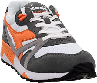 Diadora Mens N9000 Iii Casual Sneakers, Grey;Orange;White, 9.5