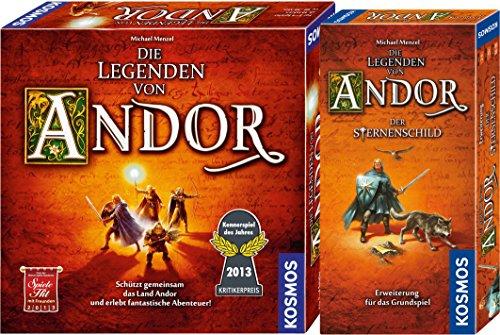 KOSMOS 691745 - Die Legenden von Andor, Kennerspiel des Jahres 2013 Grundspiel + Erweiterung