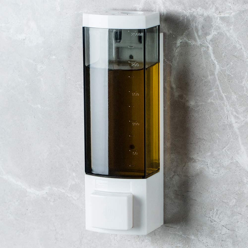 Free shipping Super intense SALE Soap Dispensers 250ml ABS Plastic Drill or with Adhesive Wa
