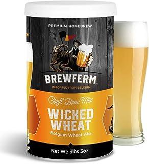 Brewferm Wicked Wheat (Belgian Wit) Belgian Homebrew Craft Beer Mix - makes 15 liters or 4 gallons of beer