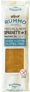 Rummo Spaghetti N ° 3 | Italian Gluten Free Pasta | 14 Ounce | Pack of 6