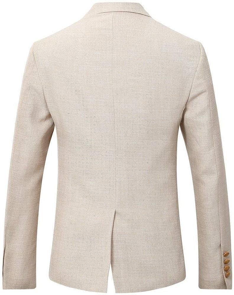 GATMSTZ Men's Notch Lapel Slim Fit 3 Piece Suit Smart Wedding Business Dinner Set