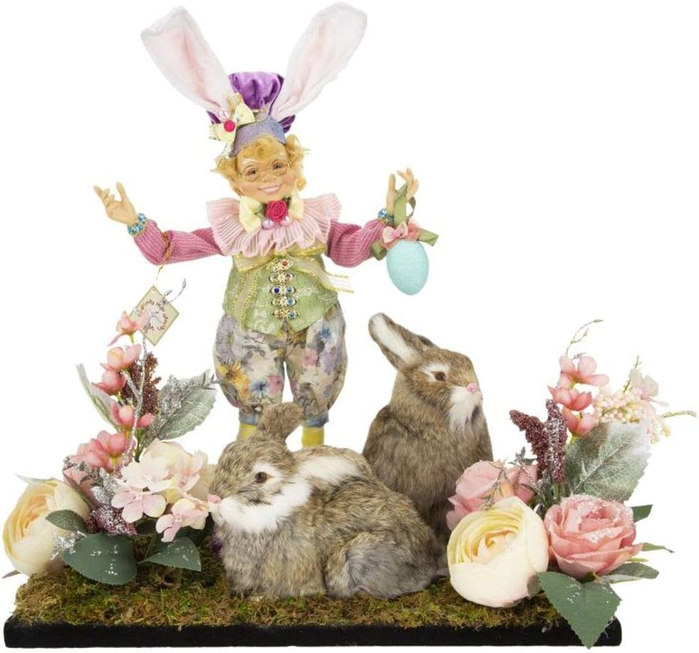 Mark Roberts 2021 Virginia Beach Mall Spring Elfin Oakland Mall with Rabbits Figurine Arrangement