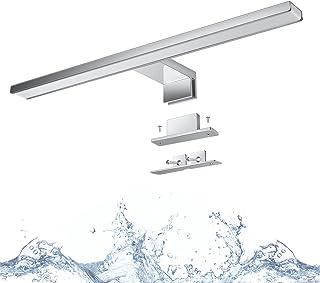Lampe Miroir Salle de Bain, Wowatt Applique Miroir Salle de bain IP44 8W Éclairage Miroir 40cm 400mm 640lm Lampe Miroir 28...