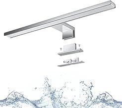 LED Spiegellamp 40cm 8W 640lm, Wowatt Spiegellamp LED Badkamer 4000mm Badkamer 2800K Warm Wit Badkamer Licht IP44 Wandmont...