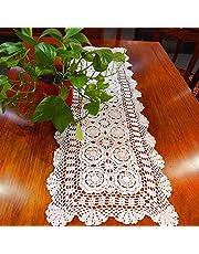 Générique Chemin de Table Creux en Fil de Coton de Pays américain au Crochet Fait à la Main, Longue Table Armoire Coiffeuse Couverture en Tissu décoration