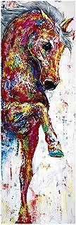 NCKLY Peinture sur Toile Art Mural Toile Peinture Cheval Image Affiche Imprimer Peinture Animalière Décoration De La Maiso...