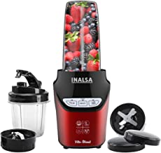 INALSA Mixer Grinder/Nutri Blender Vito Blend-1000W with 100% Pure Copper Motor & Variable Speed| 6 Leaf High-Quality SS B...