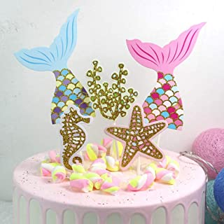 Mermaid Cake Topper Cupcake Topper Women Wedding Party Supplies