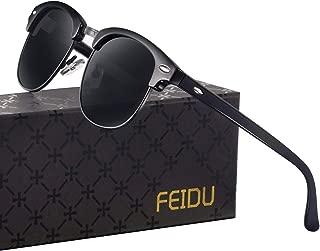 Retro Polarized Mens Sunglasses for Men Half Metal Women FD3030