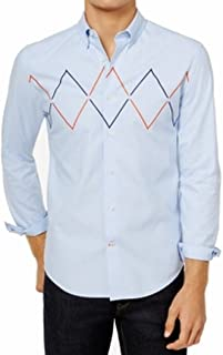 Mens Embroidered Button Up Shirt