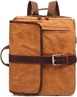 Men's Large Vintage Canvas Backpack School Laptop Bag Male Hiking Travel Rucksack College Briefcase Satchel Shoulder Bag XFGBTJKYAUu (Color : Yellow, Size : OneSize)