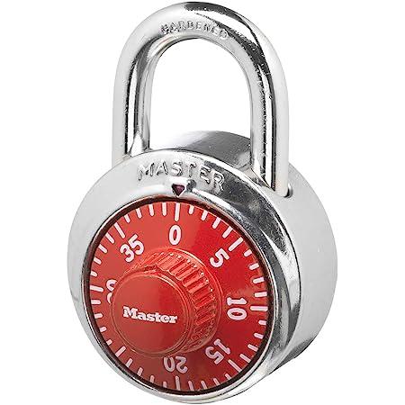 Master Lock stainless steel Combination Lock w//Red dials 1504D Locker Gym